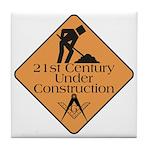 Free Mason Builders Tile Coaster