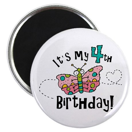 Butterfly Birthday Fourth Magnet