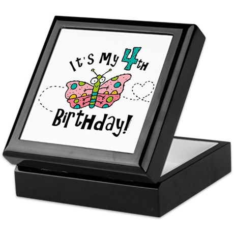 Butterfly Birthday Fourth Keepsake Box