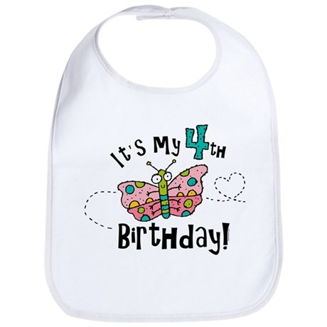 Butterfly Birthday Fourth Bib