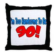 Unique 90th Throw Pillow
