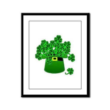 Leprechaun Hat Framed Panel Print
