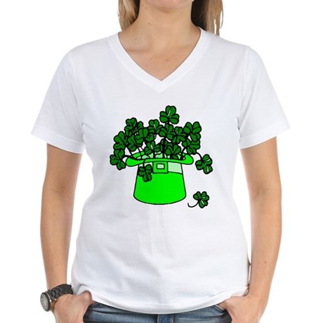 Leprechaun Hat Women's V-Neck T-Shirt