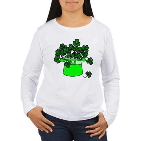 Leprechaun Hat Women's Long Sleeve T-Shirt