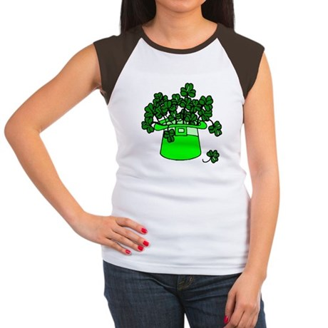 Leprechaun Hat Women's Cap Sleeve T-Shirt