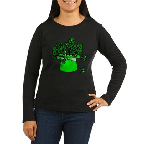 Leprechaun Hat Women's Long Sleeve Dark T-Shirt