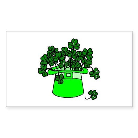 Leprechaun Hat Rectangle Sticker