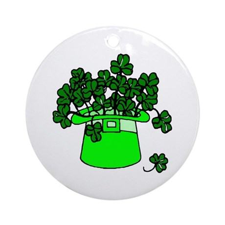 Leprechaun Hat Ornament (Round)