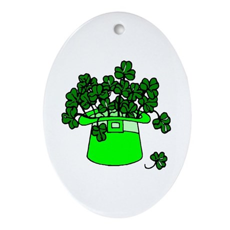 Leprechaun Hat Oval Ornament