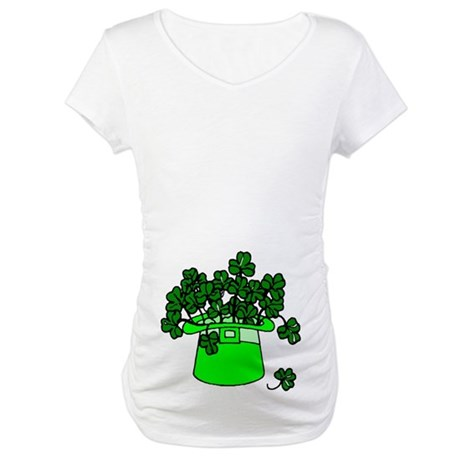 Leprechaun Hat Maternity T-Shirt