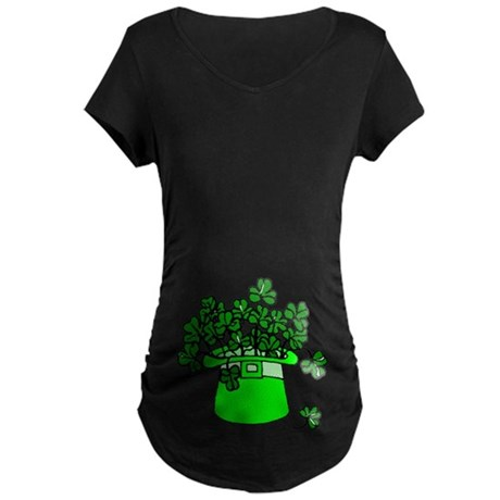 Leprechaun Hat Maternity Dark T-Shirt