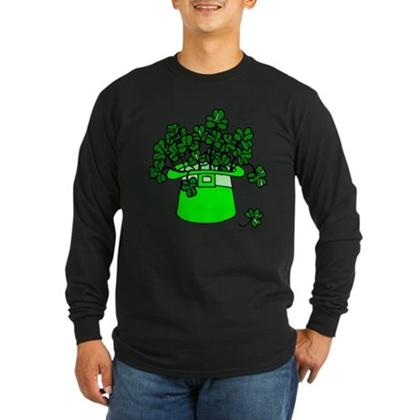 Leprechaun Hat Long Sleeve Dark T-Shirt