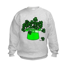 Leprechaun Hat Kids Sweatshirt