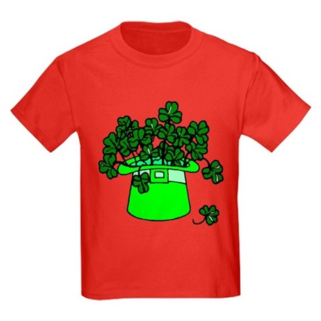 Leprechaun Hat Kids Dark T-Shirt
