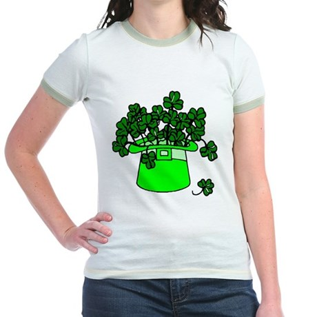 Leprechaun Hat Jr. Ringer T-Shirt