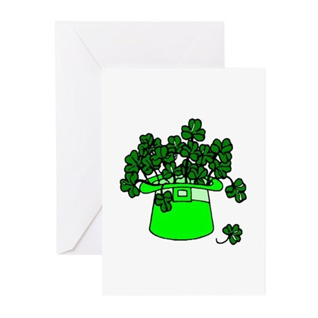 Leprechaun Hat Greeting Cards (Pk of 10)