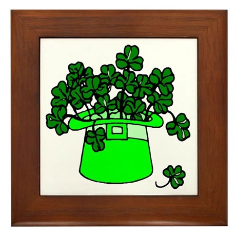 Leprechaun Hat Framed Tile