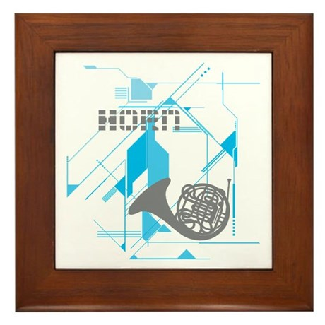 Tech Horn Framed Tile