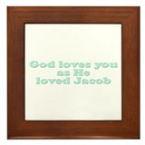 God Loves You Framed Tile