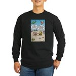 Fish Surfing Online Long Sleeve Dark T-Shirt