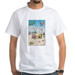 Fish Surfing Online White T-Shirt