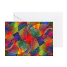 Worlds Abstract Greeting Card