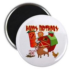Barnyard 2nd Birthday Fridge Magnet (10 pack)