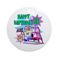 Astronaut 3rd Birthday Keepsake Ornament