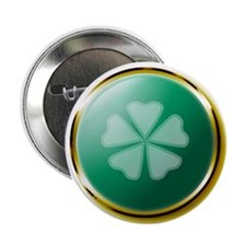 "Medallion Clover 2.25"" Button"