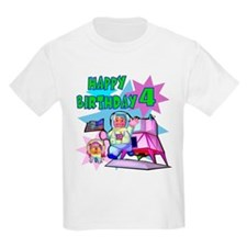 Astronaut 4th Birthday Kids T-Shirt