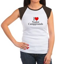 """I Love (Heart) Nudist Campgrounds"" Tee"