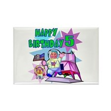 Astronaut 5th Birthday Rectangle Magnet