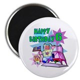 Astronaut 6th Birthday Fridge Magnet