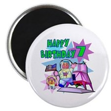 Astronaut 7th Birthday Fridge Magnet