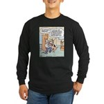Dog greets Owner Long Sleeve Dark T-Shirt