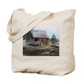 Maine Weathered Bouy Shack Tote Bag