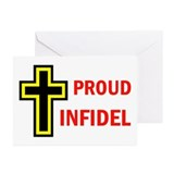 PROUD INFIDEL Greeting Cards (Pk of 20)