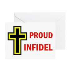 PROUD INFIDEL Greeting Cards (Pk of 10)