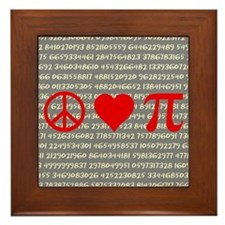 Peace, Love, and Pi Framed Tile