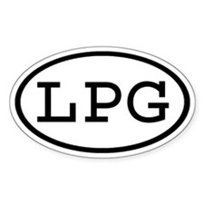 LPG Oval Oval Decal