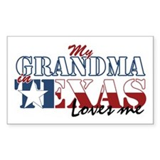 My Grandma in TX Rectangle Decal