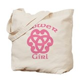 Celtic Knot Flower Girl Tote Bag
