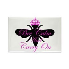 Bee Calm & Carry On Rectangle Magnet