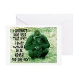GREEN IRISH GORILLA Greeting Card