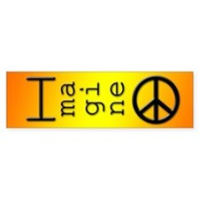 Imagine Peace Bumper Bumper Sticker