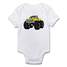Yellow MONSTER Truck Onesie