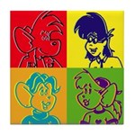 SURF RAT & SPENCER POP ART Tile Coaster