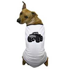 BLACK MONSTER TRUCK Dog T-Shirt