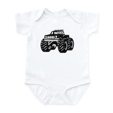 BLACK MONSTER TRUCK Infant Bodysuit