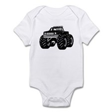 BLACK MONSTER TRUCK Onesie